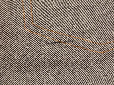 LEVI'S501XX VINTAGE/織り傷