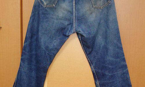 """ウエアハウス""""ラングラーモデル""""の色落ちWAREHOUSE """"WRANGLER model"""" jeans"""