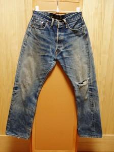 洗いすぎたエビスジーンズの色落ち