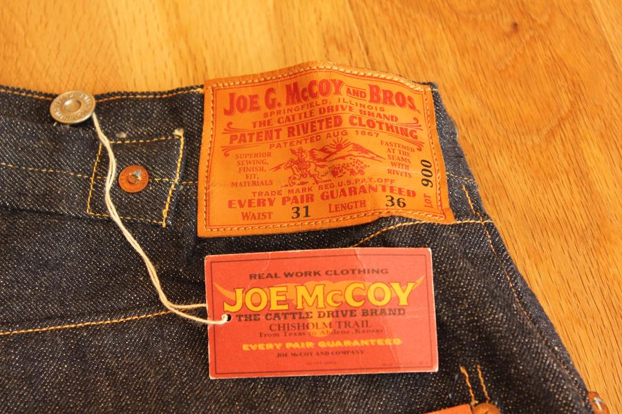 JOE McCOY(ジョーマッコイ)900 穿き込み400時間の色落ち