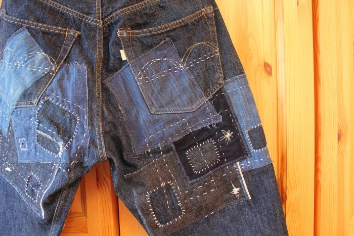 育てるパッチワークリメイクジーンズ by hands-on