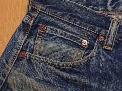 コインポケットの色落ち