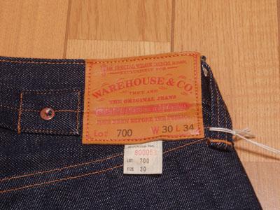 WAREHOUSE(ウエアハウス)Lot.700 CLASSIC 5Pの紹介