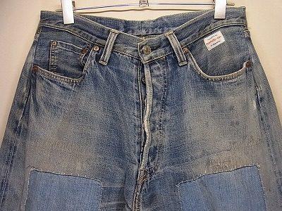 デニム加工工場 現場作業で3年穿いたジーンズ