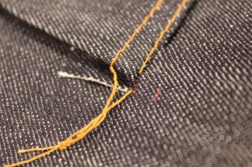 自分でジーンズ1本縫ってみた。