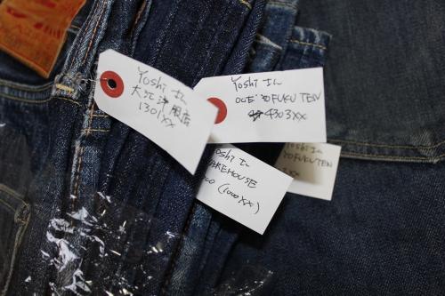 denimba展2015のジーンズを整理中