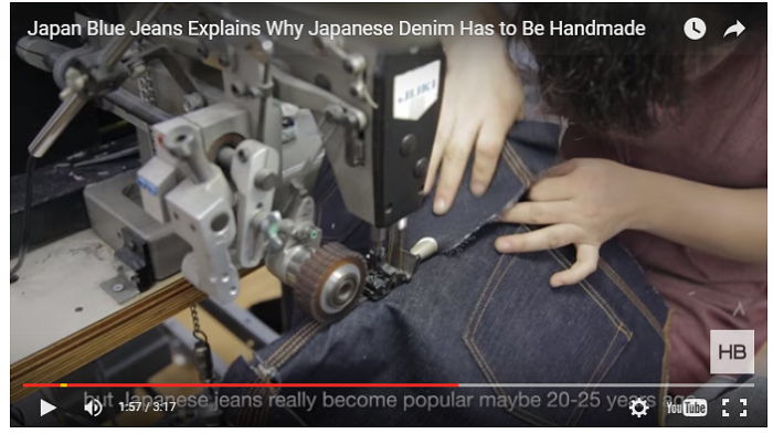 ショートムービー「Japan Blue Jeans Explains Why Japanese Denim Has to Be Handmade」
